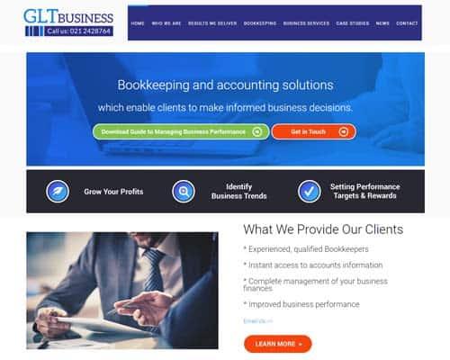 GLT Business Accountants website design