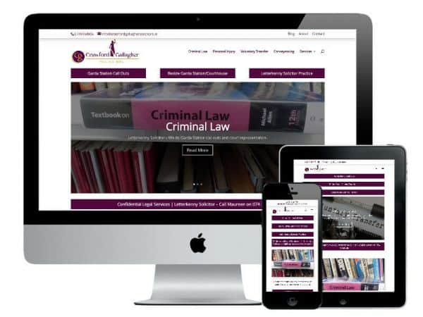Crawford Gallagher Solicitors Website