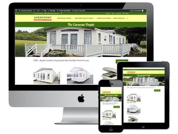 Johnstons Caravans eCommerce website design