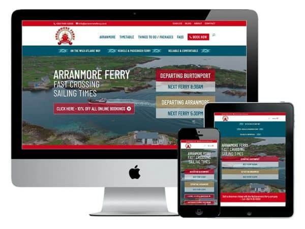 Arranmore Ferry Donegal Web Design
