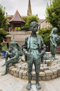 Statue-of-Boy-at-Letterkenny-Market-Square