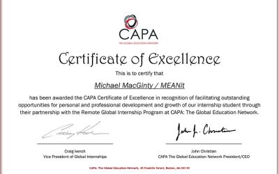 CAPA Certificate of Excellence